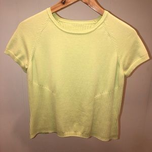 LIME GREEN TALBOTS KNIT TOP